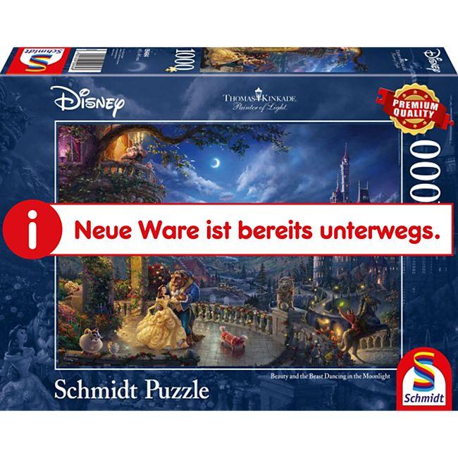 Schmidt Spiele Puzzle Thomas Kinkade Disney Die Schöne und das Biest 1000 Teile - Bild 1