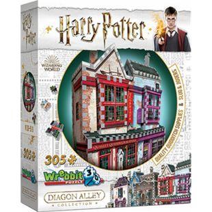Wrebbit 3D Puzzle 3D-Puzzle Harry Potter Qualitäts Quidditch Shop und Slug & Jiggers Apotheke 305 Teile - Bild 1