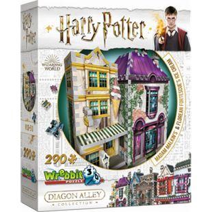 Wrebbit 3D Puzzle 3D-Puzzle Harry Potter Madam Malkins Anzüge & Florean Fortescues Eissalon 290 Teile - Bild 1