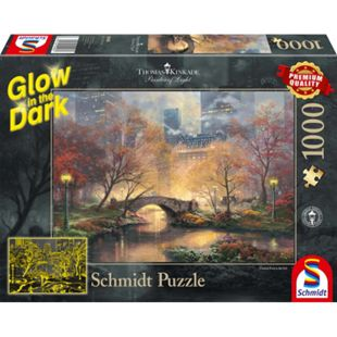 Schmidt Spiele Puzzle Thomas Kinkade Central Park im Herbst, 1000 Teile, Glow in the Dark - Bild 1