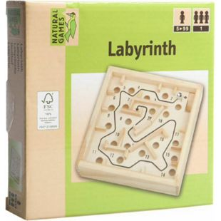 Natural Games Holz Labyrinth 12 x 12 cm - Bild 1