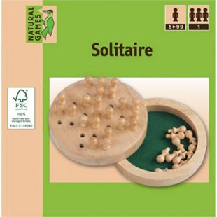 Natural Games Solitaire Holz 12 cm - Bild 1