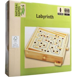 Natural Games Holz Labyrinth 30 x 25,5 cm - Bild 1