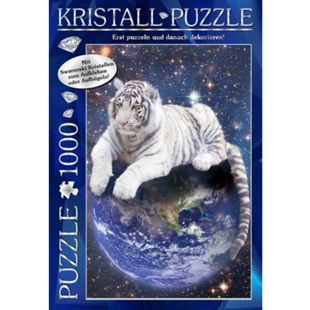 Günther M.I.C. Kristall Puzzle 1000 Teile Motiv: World of Discovery mit Swarovski Kristallen - Bild 1