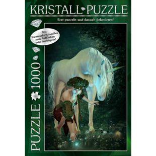 Günther M.I.C. Kristall Puzzle 1000 Teile Motiv: My Unicorn mit Swarovski Kristallen - Bild 1