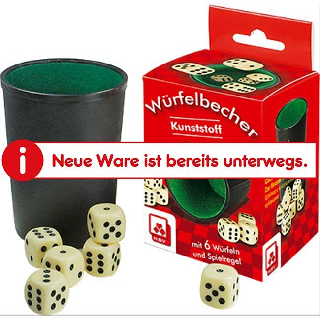 NSV Würfelbecher Kunststoff mit 6 Würfeln - Bild 1