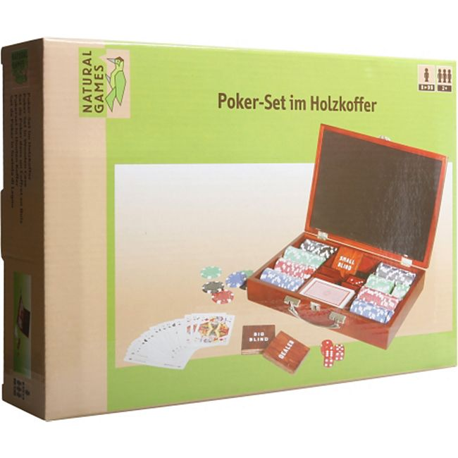Natural Games Pokerset im Holzkoffer mit 200 Chips - Bild 1