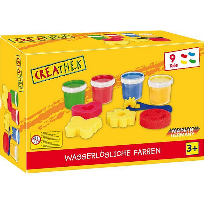 Creathek Fingerfarbe 4er mit Malschwämmchen - Bild 1