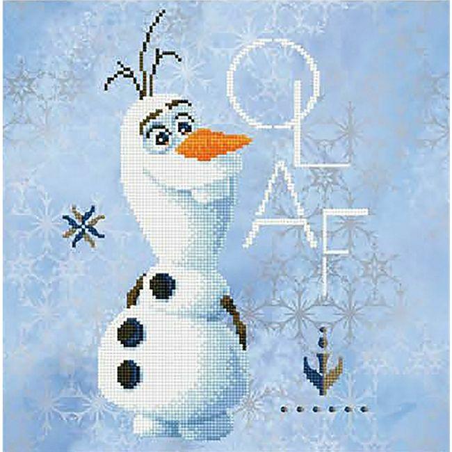Diamond Dotz Disney Frozen 2 Olaf 40x40 cm - Bild 1