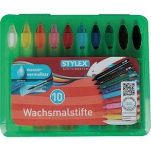 Stylex 10 wasservermalbare Wachsmalstifte mit Steckfunktion - Bild 1