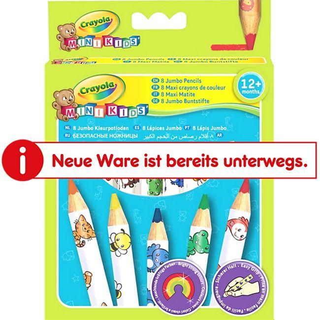 Crayola AMIGO 36789  Mini Kids Buntstifte groß 8 Stück - Bild 1