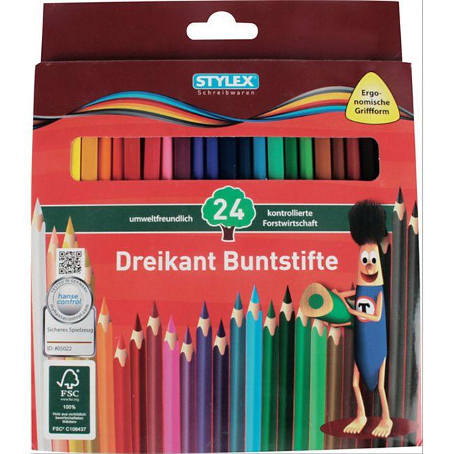 Stylex 24 lange Buntstifte aus FSC-Holz - Bild 1