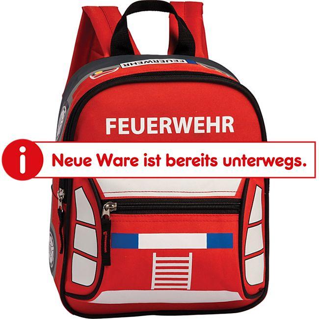 Sieber Rucksack Feuerwehr rot aus Polyester - Bild 1
