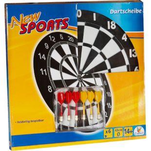 New Sports Kork Dartboard inklusive 6 Pfeilen - Bild 1