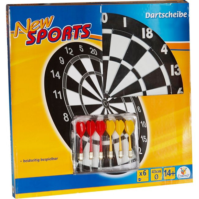 New Sports Kork Dartboard inklusive 6 Pfeilen - Bild 1