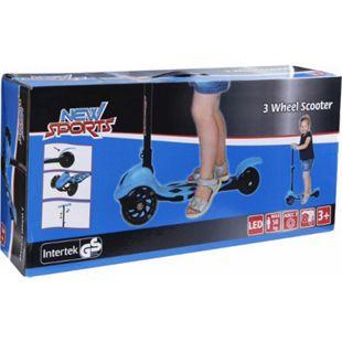 New Sports 3-Wheel Scooter Blau, 120 mm, ABEC 7 - Bild 1