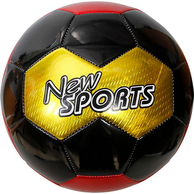 New Sports Fußball Deutschland, Größe 5, PVC, unaufgeblasen - Bild 1