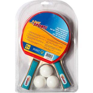 New Sports Tischtennis-Set, 2 Schläger+3 Bälle - Bild 1