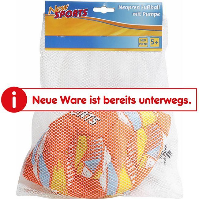 New Sports Neopren Fußball + Handpumpe im Set - Bild 1