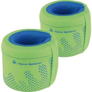 Aqua Lung Schwimmhilfe Arm Floats, fluo green/light blue,Medium/15-18kg