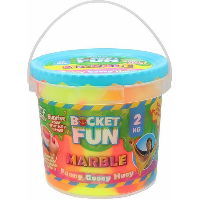 Slimy Bucket Fun, 2 kg Schleim Marble, Original - Bild 1