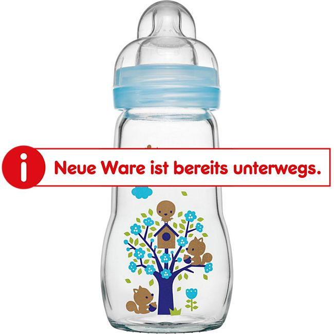MAM Feel Good Glass Bottle Jungen, 260 ml - Bild 1