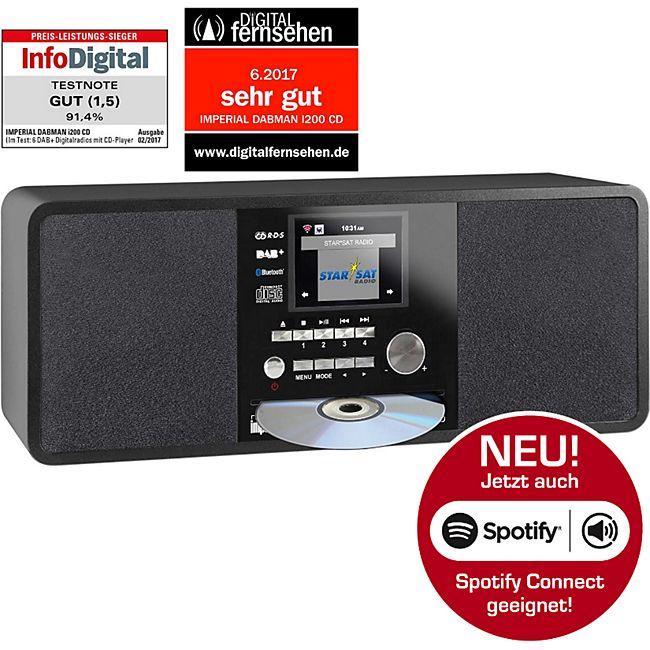 22-236-00 IMPERIAL DABMAN i200 CD Internet & DAB+ Stereo Radio, Spotify Connect schwarz - Bild 1