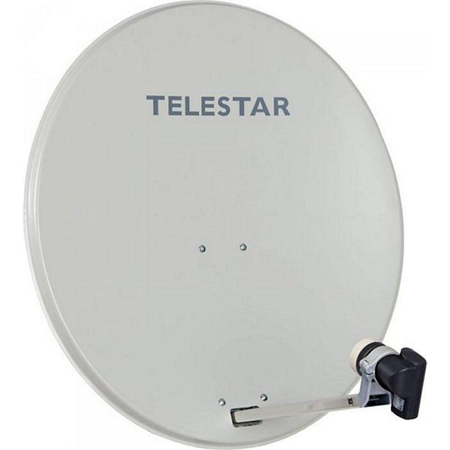 TELESTAR DIGIRAPID 80 A lichtgrau Alu Sat-Antenne inkl. SKYSINGLE HC LNB für 1 Teilnehmer - Bild 1