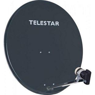TELESTAR DIGIRAPID 80 A schiefergrau Alu Sat-Antenne inkl. SKYSINGLE HC LNB für 1 Teilnehmer - Bild 1