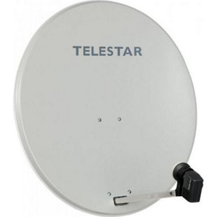 TELESTAR DIGIRAPID 60 A lichtgrau Alu Sat-Antenne inkl. SKYTWIN HC LNB für 2 Teilnehmer - Bild 1