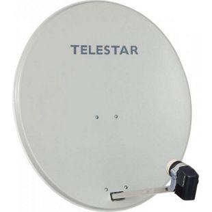 TELESTAR DIGIRAPID 80 A lichtgrau Alu Sat-Antenne inkl. SKYTWIN HC LNB für 2 Teilnehmer - Bild 1