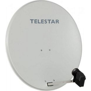 TELESTAR DIGIRAPID 80 inkl. Quattro-LNB, beige (Sat-Antenne 80 cm mit Quattro-LNB und Multischalter) - Bild 1