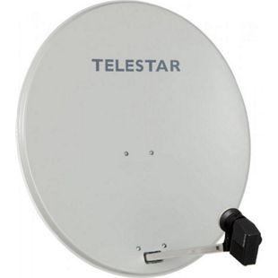 TELESTAR DIGIRAPID 60 A lichtgrau Alu Sat-Antenne inkl. SKYQUAD HC LNB für 4 Teilnehmer - Bild 1