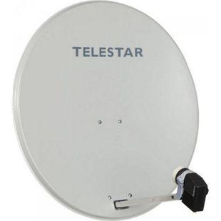 TELESTAR DIGIRAPID 80 A lichtgrau Alu Sat-Antenne inkl. SKYQUAD HC LNB für 4 Teilnehmer - Bild 1