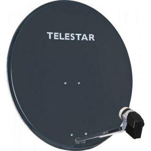 TELESTAR DIGIRAPID 80 A schiefergrau Alu Sat-Antenne inkl. SKYQUAD HC LNB für 4 Teilnehmer - Bild 1
