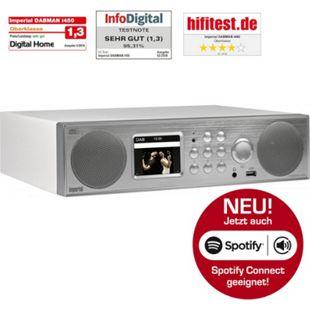 IMPERIAL DABMAN i450 Küchenunterbauradio, Internet- DAB+ & UKW-Radio, Spotify Connect... mattweiß - silber - Bild 1
