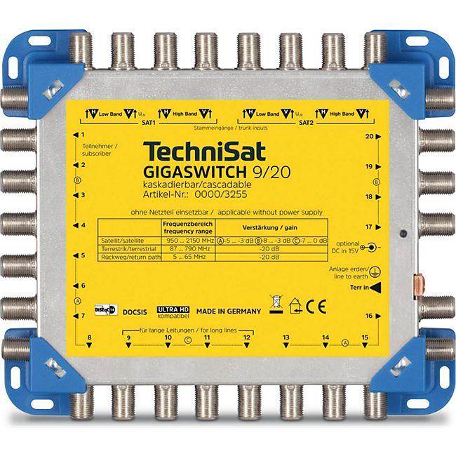 TechniSat GIGASWITCH 9/20 kompakter Multischalter für 20 Teilnehmer - Bild 1