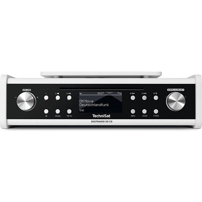 TechniSat TechniSat DIGITRADIO 20 CD DAB+ UKW Unterbau- Küchenradio Laufwerk OLED MP3 AUX... weiß - Bild 1