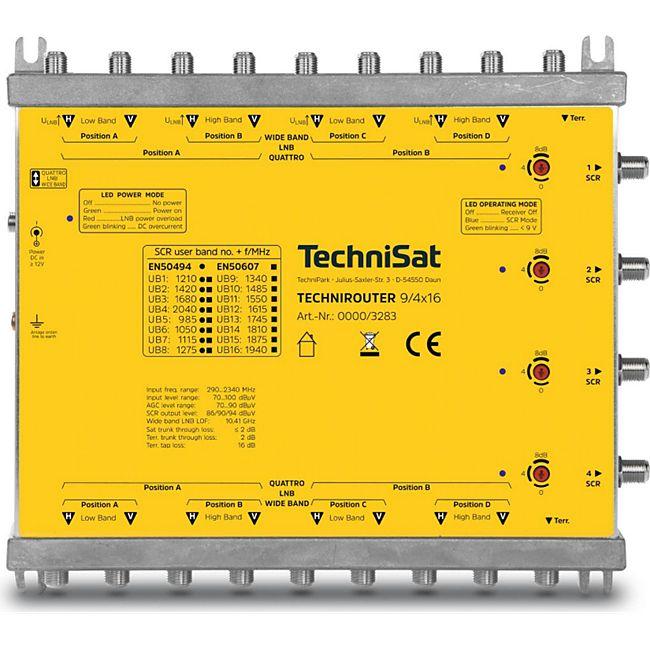 TechniSat TECHNIROUTER 9/4x16, Multischalter (1 Kabellösungen) bis zu 64 Teilnehmer - Bild 1