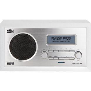 IMPERIAL DABMAN 30 Digitalradio (DAB+/DAB/UKW, Aux In, inkl. Netzteil)... weiß - Bild 1