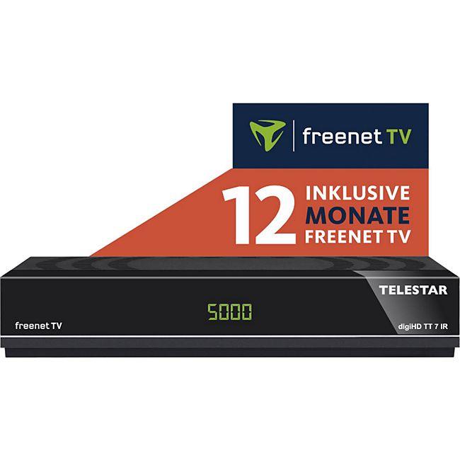 TELESTAR digiHD TT 7 IR Full HD DVB-T2 / DVB-C Receiver inkl. 12 Monate Freenet TV - Bild 1