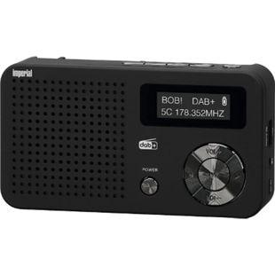 IMPERIAL DABMAN 13 DAB+ Digitalradio (UKW, USB, MicroSD, Akku- und Batteriebetrieb)... schwarz - Bild 1