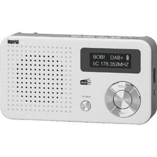 IMPERIAL DABMAN 13 DAB+ Digitalradio (UKW, USB, MicroSD, Akku- und Batteriebetrieb)... weiß-silber - Bild 1