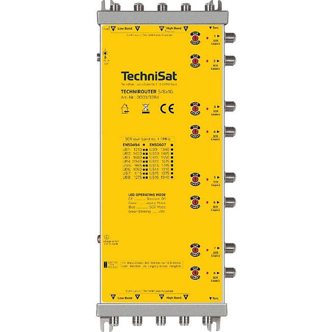 TechniSat TECHNIROUTER 5/8x16 (Einkabel-Umsetzer-Verteilanlage, Sat-Channel-Router, Quattro-LNBs, WIDEBAND-LNBs)... silber/gelb - Bild 1