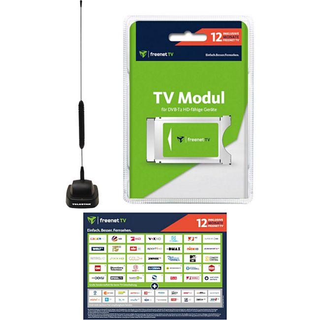 Freenet TV CI+ Modul 12 Monate Guthaben & DVB-T2 HD Antenne STARFLEX T4 Bundle - Bild 1