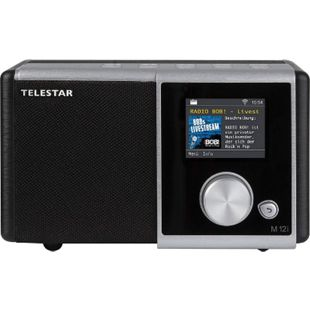 TELESTAR M 12i Internetradio (Radio, USB Musikplayer, MP3, WMA, AAC, WiFi)... schwarz-silber - Bild 1