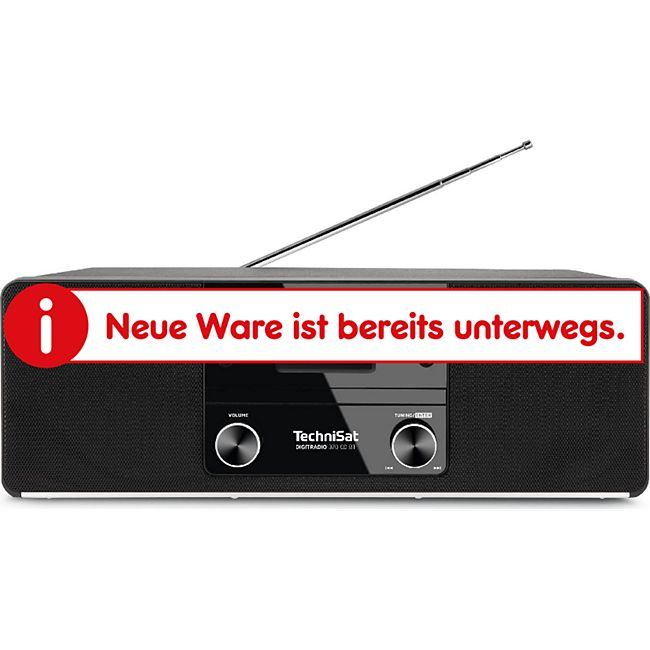 0000/3948 TechniSat DIGITRADIO 370 CD BT (Radio, Digitalradio, DAB+, MP3, CD Player, Bluetooth, AUX, Radiowecker) schwarz - Bild 1