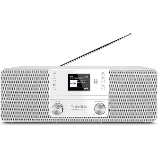 0001/3948 TechniSat DIGITRADIO 370 CD BT (Radio, Digitalradio, DAB+, MP3, CD Player, Bluetooth, AUX, Radiowecker) weiß - Bild 1