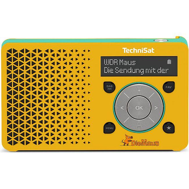 TechniSat DIGITRADIO 1 Maus Edition DAB+ (DAB/UKW-Teleskopantenne, Portables Radio, 3,5mm Klinke, OLED, Lithium-Ionen-Akku) - Bild 1