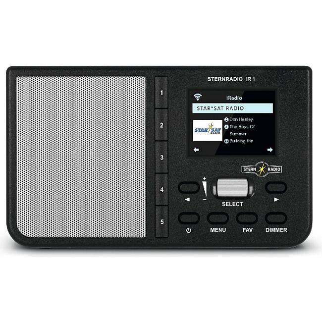 TechniSat STERNRADIO IR 1 Internetradio (WLAN, Farbdisplay, Wecker, Sleeptimer, AUX, Snooze, Direktwahltasten, App-Steuerung, Netzschalter)... schwarz - Bild 1